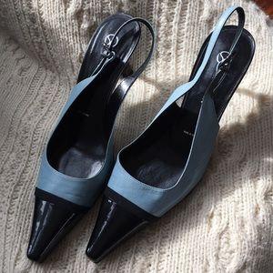 St. John sling back pointy toe heel size 9 B